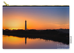 As The Sun Sets And The Water Reflects Carry-all Pouch by Michael Ver Sprill