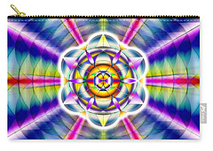 Carry-all Pouch featuring the drawing Ascending Eye Of Spirit by Derek Gedney