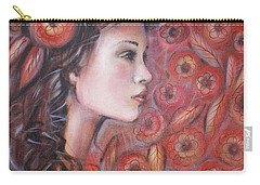 Asian Dream In Red Flowers 010809 Carry-all Pouch