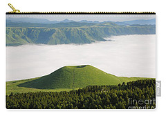 Carry-all Pouch featuring the photograph Aso Komezuka Sea Of Clouds Cloud Kumamoto Japan by Paul Fearn