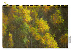 Aspens And Cattails Carry-all Pouch