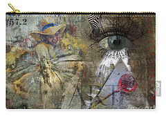 Carry-all Pouch featuring the digital art Asperger's by Nola Lee Kelsey