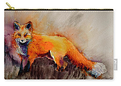 Carry-all Pouch featuring the painting Assessing The Situation by Beverley Harper Tinsley