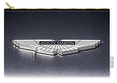 Carry-all Pouch featuring the digital art Aston Martin Badge by Douglas Pittman