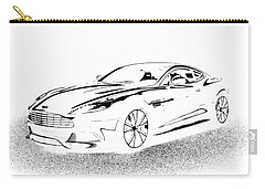 Carry-all Pouch featuring the digital art Aston Martin by Rogerio Mariani
