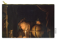 Astronomer By Candlelight Carry-all Pouch by Gerrit Dou
