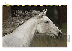 Carry-all Pouch featuring the photograph At A Full Gallop D7796 by Wes and Dotty Weber
