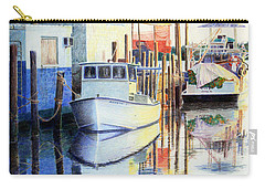 Carry-all Pouch featuring the painting At Cortez Docks by Roger Rockefeller