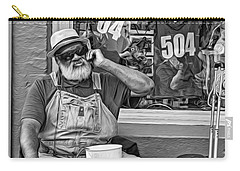 At His Office - Grandpa Elliott Small Bw Carry-all Pouch