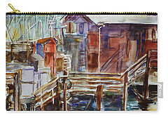 At Monterey Wharf Ca Carry-all Pouch by Xueling Zou