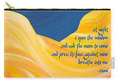 At Night With Rumi And The Moon Carry-all Pouch
