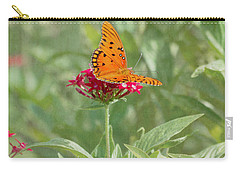 At Rest - Gulf Fritillary Butterfly Carry-all Pouch