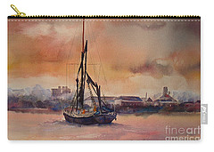 Carry-all Pouch featuring the painting At Rest On The Thames London by Beatrice Cloake