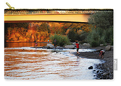 Carry-all Pouch featuring the photograph At Rivers Edge by Melanie Lankford Photography