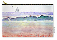 At The Beach Carry-all Pouch by C Sitton