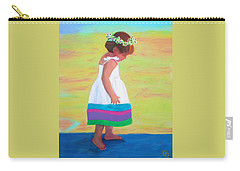 Carry-all Pouch featuring the painting At The Beach by Deborah Boyd