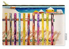 At The Beach Carry-all Pouch by Frances Marino