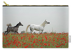 Carry-all Pouch featuring the photograph At The Poppies' Field... 2 by Dubi Roman