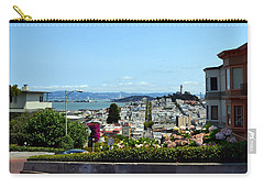 At The Top - Lombard Street Carry-all Pouch by Michelle Calkins