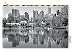 Atlanta Reflecting In Black And White Carry-all Pouch by Frozen in Time Fine Art Photography