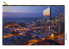 Atlantic City At Dawn Carry-all Pouch by Joan Reese