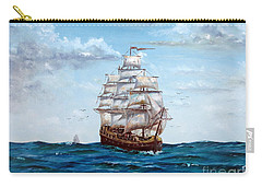 Carry-all Pouch featuring the painting Atlantic Crossing  by Lee Piper