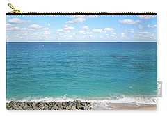 Atlantic Ocean In South Florida Carry-all Pouch by Ron Davidson