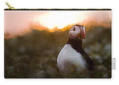 Atlantic Puffin At Sunrise Skomer Carry-all Pouch by Sebastian Kennerknecht