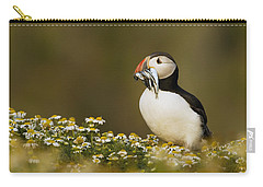 Atlantic Puffin Carrying Fish Skomer Carry-all Pouch by Sebastian Kennerknecht