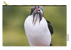 Atlantic Puffin Carrying Greater Sand Carry-all Pouch by Franka Slothouber