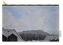 Carry-all Pouch featuring the photograph Attic Windows Open To The Sky by Felicia Tica