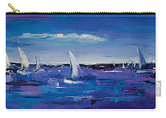 Carry-all Pouch featuring the painting Au Gre Du Vent by Elise Palmigiani