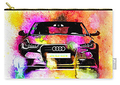 Audi A6 Avant Watercolor Carry-all Pouch by Daniel Janda