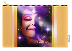 Carry-all Pouch featuring the painting Audrey - Audrey Hepburn by Hartmut Jager