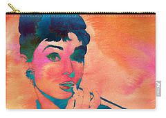 Carry-all Pouch featuring the painting Audrey Hepburn 1 by Brian Reaves