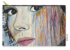 Audrey Hepburn-abstract Carry-all Pouch