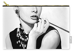 Audrey Hepburn Artwork Carry-all Pouch by Sheraz A