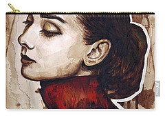 Audrey Hepburn Carry-all Pouch by Olga Shvartsur