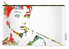 Audrey Hepburn - Watercolor Carry-all Pouch