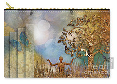 Carry-all Pouch featuring the digital art Aum by Nola Lee Kelsey