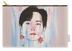 Aung San Suu Kyi Carry-all Pouch by Roberto Prusso