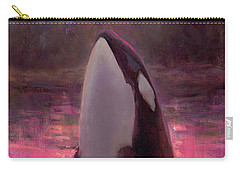 Orca Whale And Aurora Borealis - Killer Whale - Northern Lights - Seascape - Coastal Art Carry-all Pouch