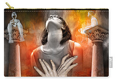 Carry-all Pouch featuring the digital art Aus Der Tiefe by Rosa Cobos