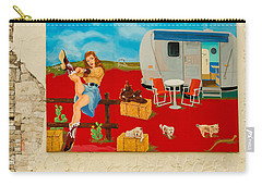 Austin - Camping Mural Carry-all Pouch by Allen Sheffield