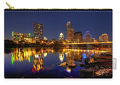 Carry-all Pouch featuring the photograph Austin On The Rocks by Dave Files