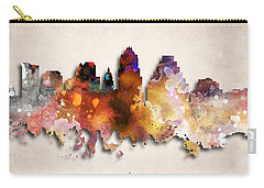 Austin Painted City Skyline Carry-all Pouch by World Art Prints And Designs