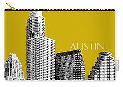 Austin Texas Skyline - Gold Carry-all Pouch