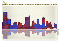 Austin Texas Skyline Carry-all Pouch by Marlene Watson