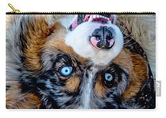 Australian Shepherd Carry-all Pouch by Cheryl Baxter