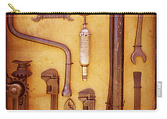Carry-all Pouch featuring the photograph Auto Mechanic Vintage Tools by Ann Powell